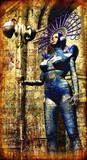 cyberpunk alien hermit painted poster