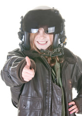 Girl who wants to be an aviator
