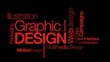 Graphic Design art tag cloud animation