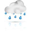 Symbole vectoriel météo pluie 01