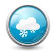 Symbole vectoriel météo neige 02