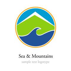 Logo Sea and Mountains # Vector