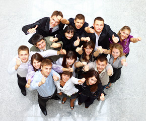 Large group of business people. Over white