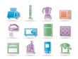 Kitchen and home equipment objects - vector illustration