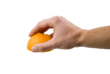 mano con arancia