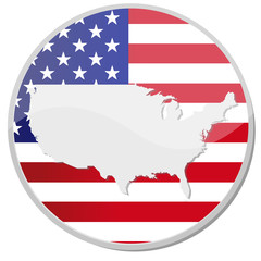 button style banner of united states of america