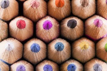 colorfull colored pencils