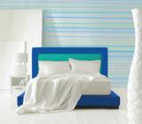 minimal blue bed poster