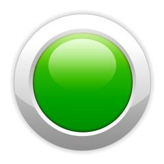 electronic glowing green button