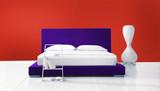 purple/red minimal bedroom poster