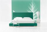 winter minimal bedroom poster