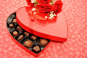 Chocolates and Red Roses