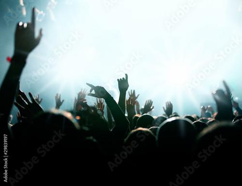 Menschenmenge bei Konzert oder Party
