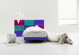 big dog in minimal bedroom poster