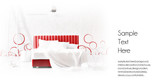 red minimal bed template poster