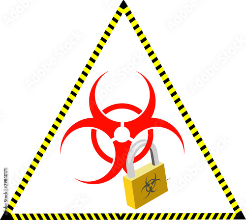 Vector virus vault sign