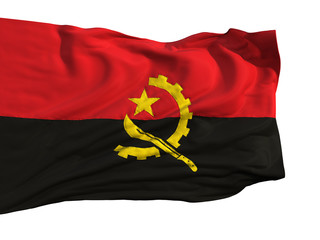 Flag of Angola, fluttering in the wind