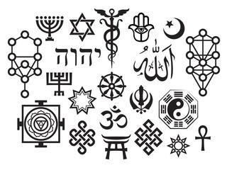 Mystique Symbols set VI. Oriental Sacral Religious Symbols
