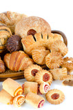 Bakery foodstuffs set poster