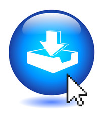 DOWNLOAD Button (internet web downloads click here blue vector)