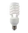 Energy Saving Lightbulb Isolated on White