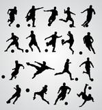 Fototapety soccer player vector