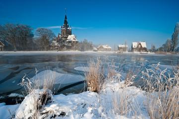 Winter landscape in the Netherlands
