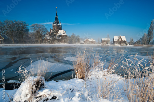 Winter landscape in the Netherlands