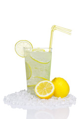 Lemonade in glass isolated