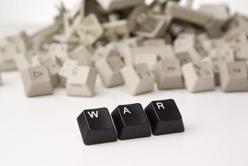 Krieg mit Tasten von einer Tastatur