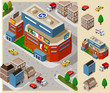 Big Mall Isometric Vector