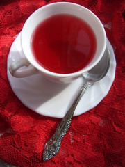 Red cup,saurce and spoon
