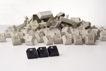 Krieg mit Computertasten