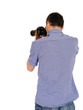 professional male photographer from back taking picture.copyspa