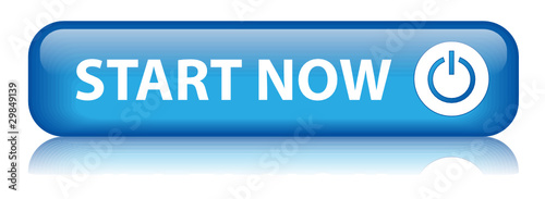 """START NOW"" Button (internet web power on website click here go)"