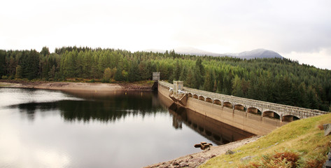 View of Laggan Dam in Scotland