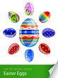 set easter eggs vector