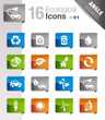 Angle Stickers - Ecological Icons 01