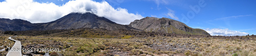 panorama of togariro alpine crossing