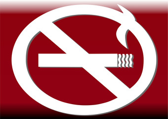 interdit de fumer 3d