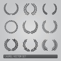 Laurel wreath vector Set