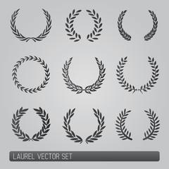 Laurel wreath vector Set