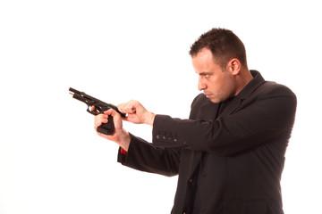 homme pistolet