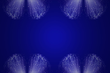 Blue fiber optic background.