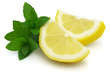 Lemons slices with mint