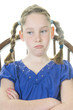 upset girl in chair