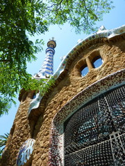 House at park Guell, Barcelona, Spain