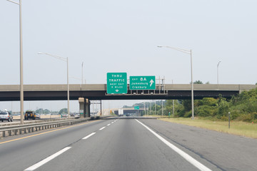 Exit 8A New Jersey Turnpike I-95 Road Sign Arrow
