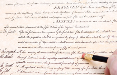 Editing Erasing First Amendment US Constitution