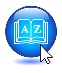 A-Z Button (web search products catalogue directory dictionary)
